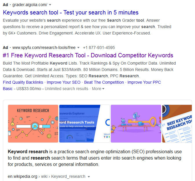 What is a keyword research tool?