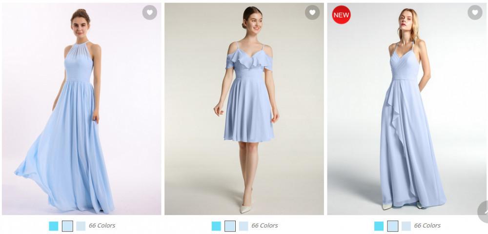 Bridesmaids dresses - different style, same colour
