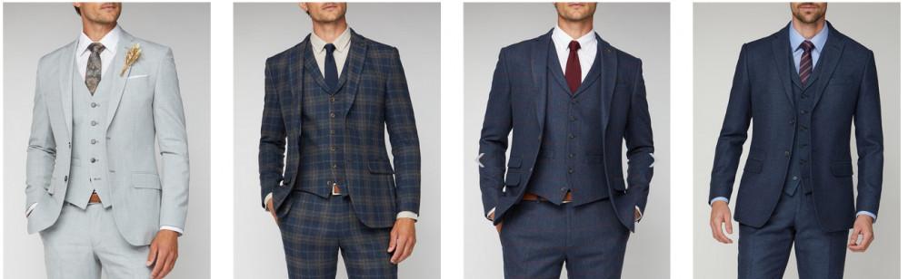 Men in wedding suits