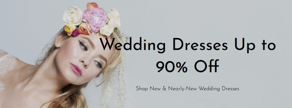 Wedding dresses up to 90% off