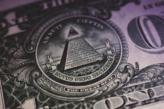 Close up of dollar