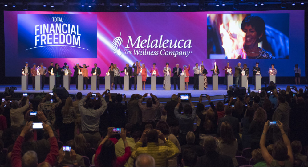 Melaleuca stage at event