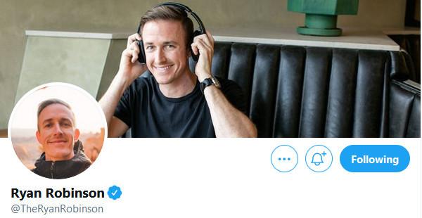Ryan Robinson Twitter Profile