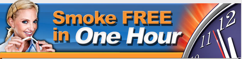 Smoke-free in one hour banner
