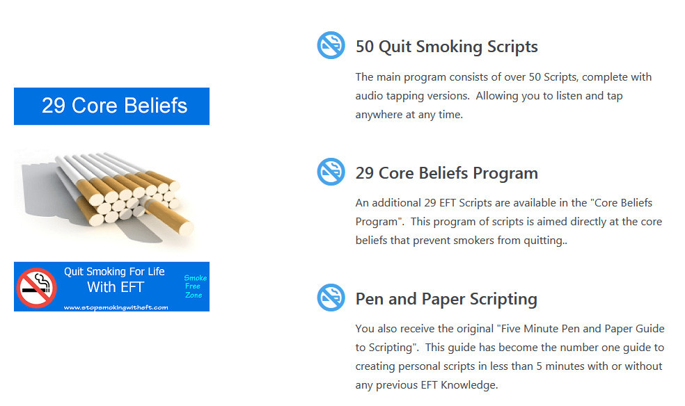 Steps withing Stop Smoking with EFT