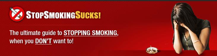 Stop Smoking Sucks banner