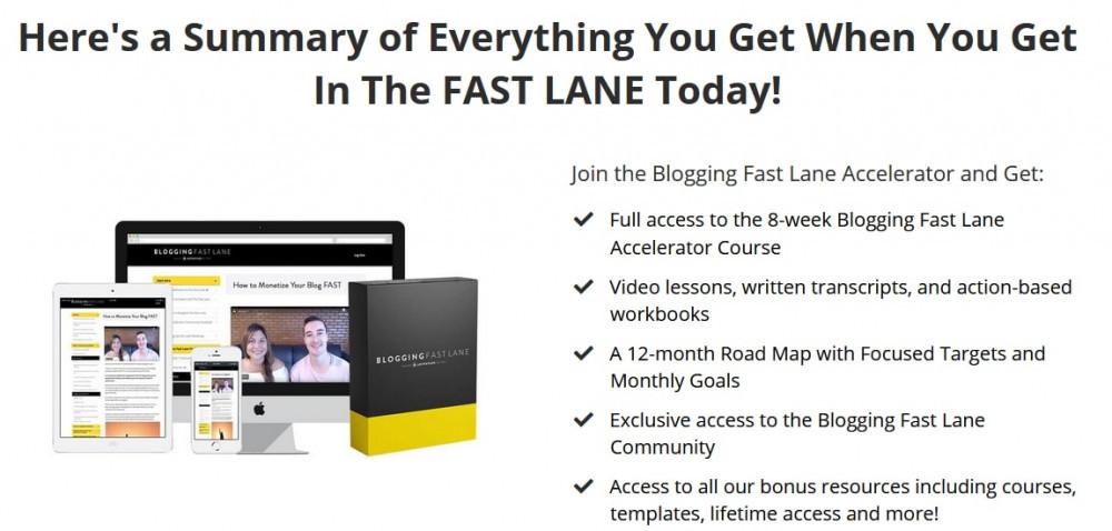 Bloggin Fast Lane Course Details